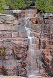 Cascading waterfall in Acadia National Park, Maine Royalty Free Stock Photos