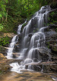 Cascading waterfall. In Blue Mountains Australia royalty free stock image