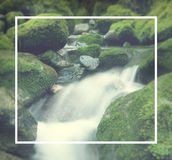 Cascading Waterfall Cascading Atmosphere Greenery Concept Royalty Free Stock Images