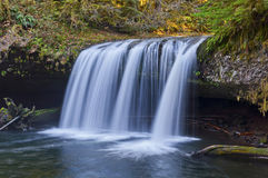 Cascading waterfall with closeup view Royalty Free Stock Image
