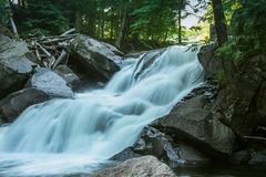 Cascading waterfall. In the forest Stock Photo