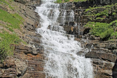Cascading Waterfall in Glacier National Park Royalty Free Stock Photos