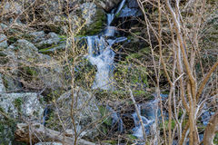 Cascading Waterfall. Hidden cascading waterfall located in the Blue Ridge Mountains of Virginia, USA Royalty Free Stock Photography