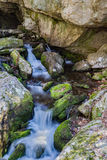 Cascading Waterfall. Hidden cascading waterfall located in the Blue Ridge Mountains of Virginia, USA Stock Photo