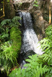 Cascading Waterfall in Hong Kong Park Stock Images