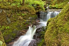 Cascading Waterfall Juneau Alaska Royalty Free Stock Photography
