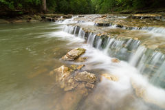 Cascading Waterfall in Lee`s Summit Stock Photography