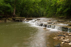 Cascading Waterfall in Lee`s Summit Stock Image