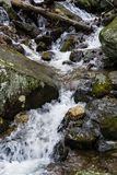 Cascading Waterfall in the Blue Ridge Mountains stock photos
