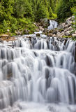Cascading waterfall at Mount Rainier National Park Stock Images