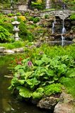 Cascading waterfall and pond Royalty Free Stock Image