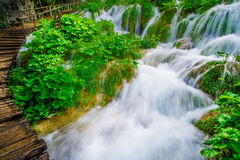 Cascading waterfall Stock Photo
