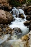 Cascading waterfall slow shutter royalty free stock images