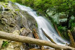 A Cascading Waterfalls on Fallingwater Creek. Located near Peaks of Otter on the Blue Ridge Parkway, Virginia, USA at Milepost 83.1 Royalty Free Stock Images