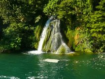 Cascading waterfalls in Krka National Park Royalty Free Stock Photography