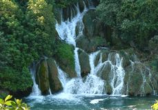 Cascading waterfalls in Krka National Park Royalty Free Stock Images