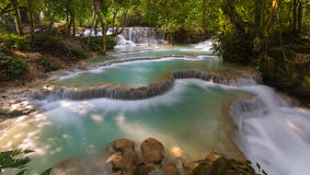 Cascading waterfalls Skradinski Buk. Krka National Park, Croatia. Royalty Free Stock Photos