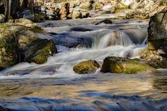 Cascading Waterfalls, Virginia, USA. Cascading waterfalls on Roaring Run Creek located George Washington National Forest, Botetourt County, Virginia, USA royalty free stock photo