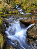 Cascading Waterfalls by the Watkins path flowing into the Afon Cwm Llan, Snowdon Royalty Free Stock Image