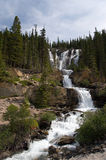 Cascading waterfalls in the wilderness Royalty Free Stock Photography