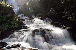 Cascading White Waterfall Stock Photo