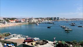 Cascais Bay stock video footage