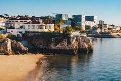 Cascais beach in Portugal, famous tourist destination near Lisbo Royalty Free Stock Image