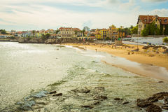 Cascais Beach. View of a beach in the touristic village of Cascais, Portugal. Photo taken on: September 23th, 2014 stock photography