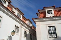 Cascais Dorf-Architektur Lizenzfreie Stockfotografie