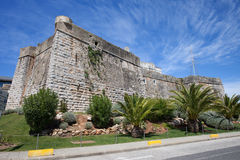 Cascais fästning i Portugal Fotografering för Bildbyråer