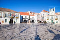 Cascais is famous and popular summer vacation spot for Portuguese and foreign tourists Royalty Free Stock Photo