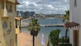 Cascais, het strand van Portugal timelapse stock video