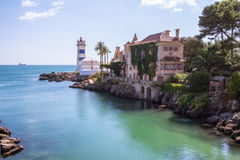 Cascais Lighthouse Stock Images