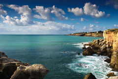 Cascais, overzeese kust, Boca do Inferno, Portugal Stock Fotografie