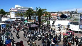 Cascais, Portugal Harley-Davidson H.O.G Rally stock footage