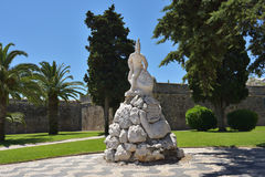 Cascais in Portugal. Cascais, Portugal - June 7, 2017: Monument to the 19th Infantry Regiment the Peninsular war against Cascais fortress stock photos