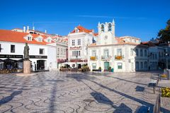 Cascais is famous and popular summer vacation spot for Portuguese and foreign tourists Stock Image