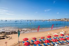 View of a beach in the touristic village Stock Photography