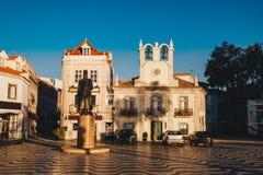 Cascais Portugal stadsmitt Berömd loppdestination i port Arkivfoton