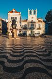 Cascais Portugal stadsmitt Berömd loppdestination i Porto Arkivbild
