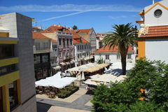 Cascais. View from Largo Luís de Camões where are most of the bars and restaurants of this villa Stock Photo