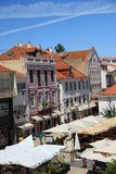 Cascais. View from Largo Luís de Camões where are most of the bars and restaurants of this villa Stock Photography