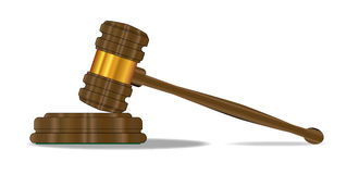 Cascalho dos juizes Imagem de Stock