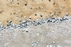 Cascalho e areia finos da textura Imagem de Stock