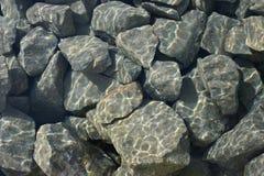 Cascalho subaquático Fotografia de Stock