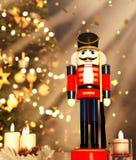 Cascanueces adornado para la Navidad fotografía de archivo