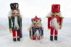 Cascanueces en la nieve Fotografía de archivo