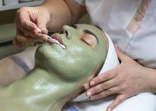 Cascas da massagem e do facial imagem de stock