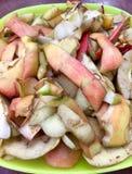 Cascas de uma maçã Imagem de Stock