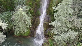 Cascata代勒Marmore瀑布 股票视频